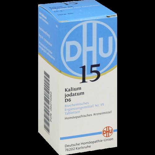 Verpackungsbild(Packshot) von BIOCHEMIE DHU 15 Kalium jodatum D 6 Tabletten