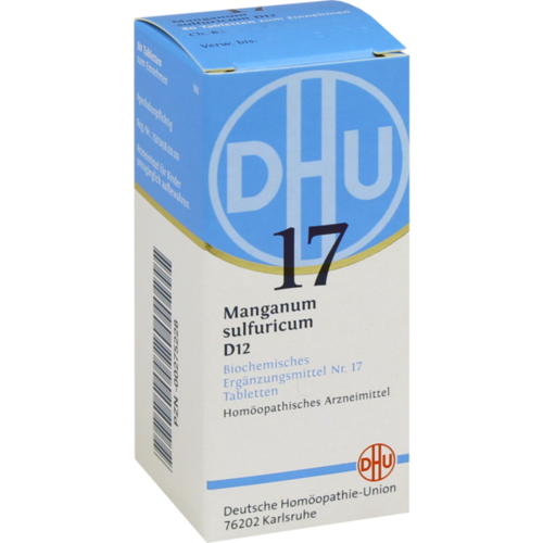 Verpackungsbild(Packshot) von BIOCHEMIE DHU 17 Manganum sulfuricum D 12 Tabl.