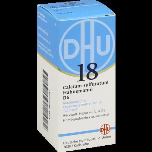 Verpackungsbild(Packshot) von BIOCHEMIE DHU 18 Calcium sulfuratum D 6 Tabletten