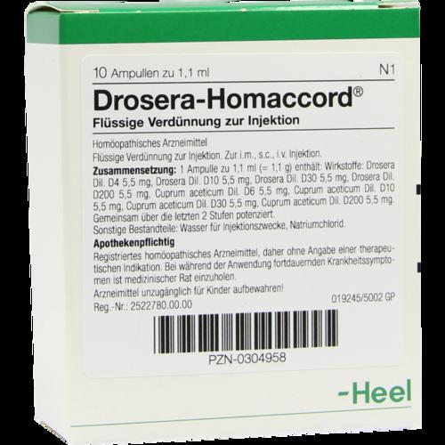 Verpackungsbild(Packshot) von DROSERA HOMACCORD Ampullen