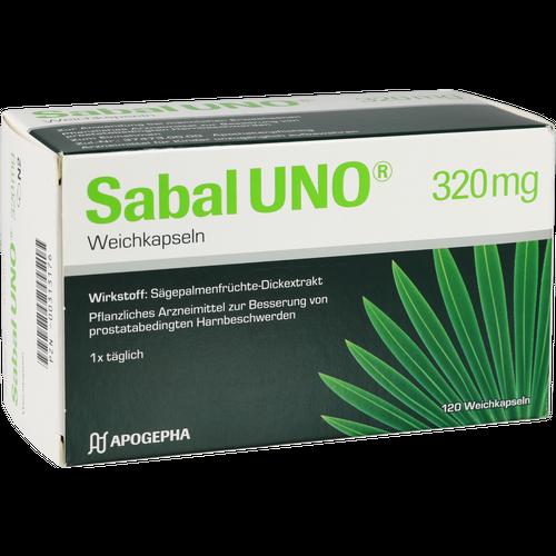 Verpackungsbild(Packshot) von SABALUNO 320 mg Weichkapseln