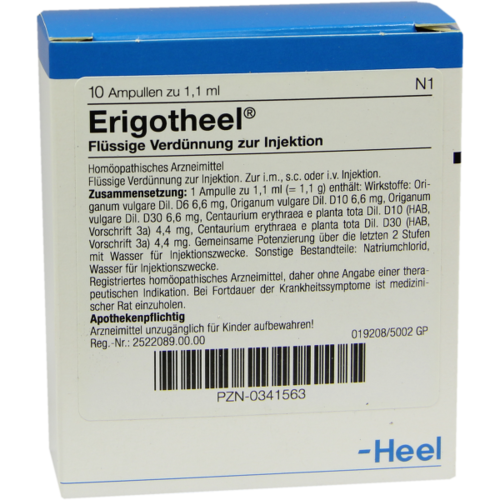 Verpackungsbild(Packshot) von ERIGOTHEEL Ampullen