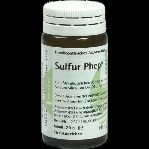 Verpackungsbild(Packshot) von SULFUR PHCP Globuli