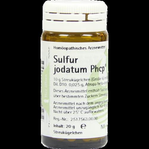 Verpackungsbild(Packshot) von SULFUR JODATUM PHCP Globuli