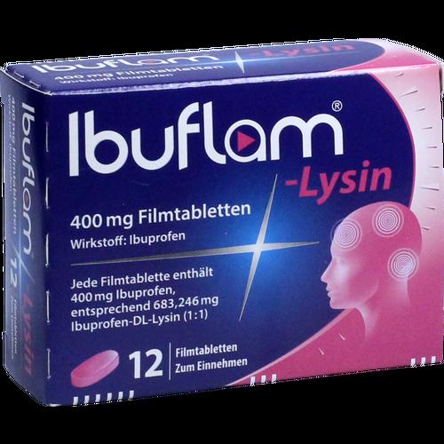 Verpackungsbild(Packshot) von IBUFLAM-Lysin 400 mg Filmtabletten