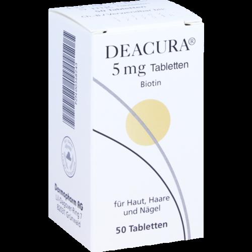 Verpackungsbild(Packshot) von DEACURA 5 mg Tabletten