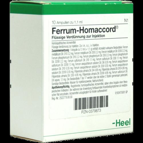 Verpackungsbild(Packshot) von FERRUM HOMACCORD Ampullen