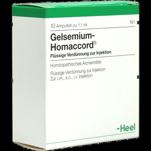 Verpackungsbild(Packshot) von GELSEMIUM HOMACCORD Ampullen