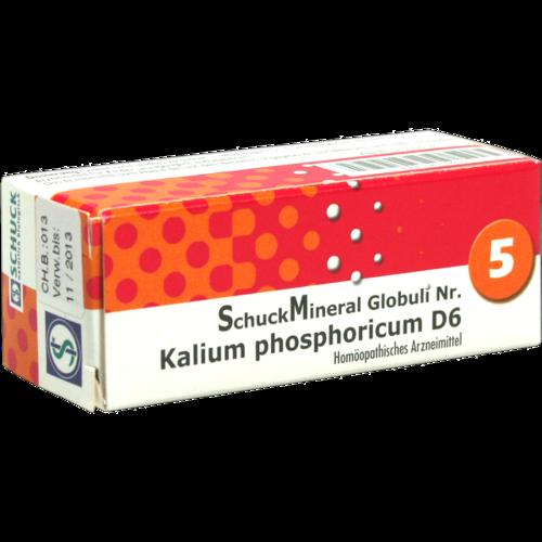 Verpackungsbild(Packshot) von SCHUCKMINERAL Globuli 5 Kalium phosphoricum D6