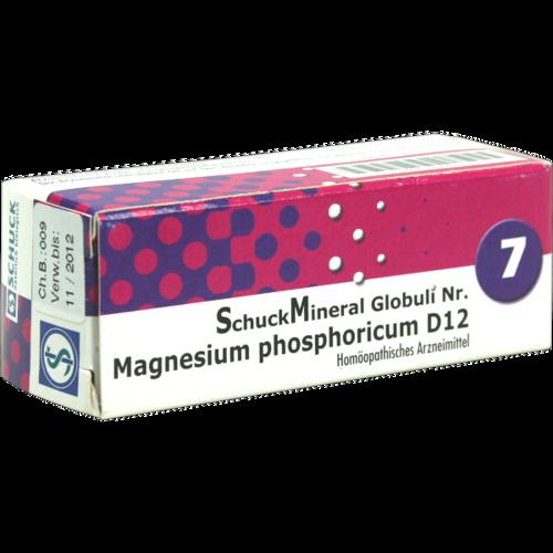 Verpackungsbild(Packshot) von SCHUCKMINERAL Globuli 7 Magnesium phosphoricum D12