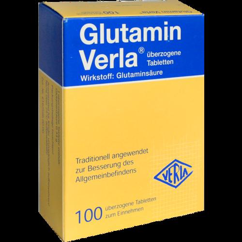 Verpackungsbild(Packshot) von GLUTAMIN VERLA überzogene Tabletten
