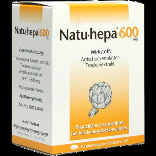 Verpackungsbild(Packshot) von NATU HEPA 600 mg überzogene Tabletten