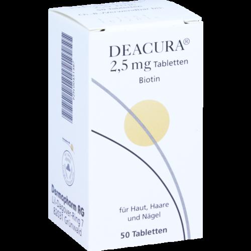 Verpackungsbild(Packshot) von DEACURA 2,5 mg Tabletten