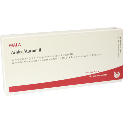 Verpackungsbild(Packshot) von ARNICA/AURUM II Ampullen