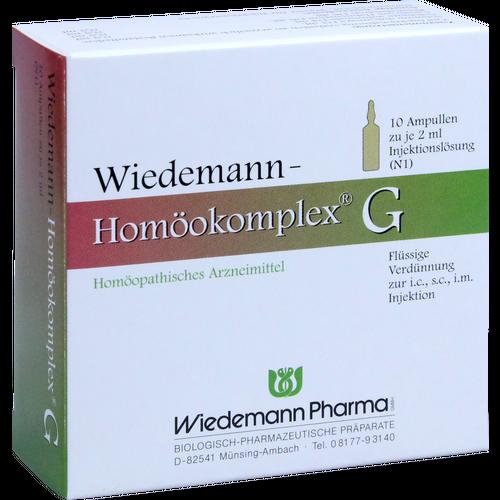 Verpackungsbild(Packshot) von WIEDEMANN Homöokomplex G Ampullen