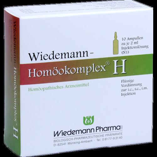 Verpackungsbild(Packshot) von WIEDEMANN Homöokomplex H Ampullen