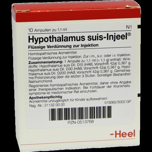 Verpackungsbild(Packshot) von HYPOTHALAMUS suis Injeel Ampullen