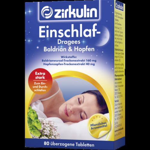 Verpackungsbild(Packshot) von ZIRKULIN Einschlaf Dragees Baldrian+Hopfen