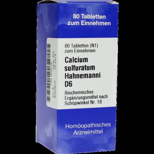 Verpackungsbild(Packshot) von BIOCHEMIE 18 Calcium sulfuratum D 6 Tabletten