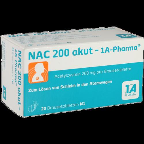 Verpackungsbild(Packshot) von NAC 200 akut-1A Pharma Brausetabletten