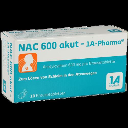 Verpackungsbild(Packshot) von NAC 600 akut-1A Pharma Brausetabletten