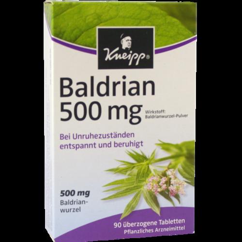 Verpackungsbild(Packshot) von KNEIPP Baldrian 500 überzogene Tabletten