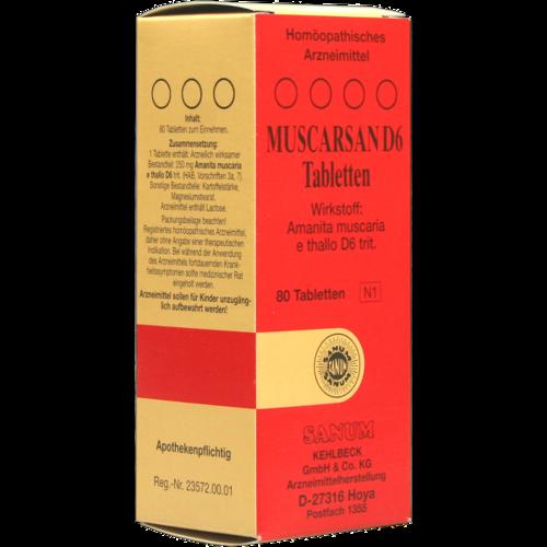 Verpackungsbild(Packshot) von MUSCARSAN D 6 Tabletten