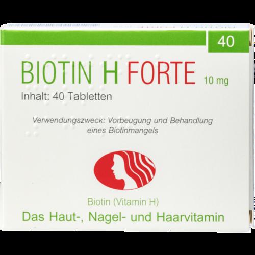 Verpackungsbild(Packshot) von BIOTIN H forte Tabletten