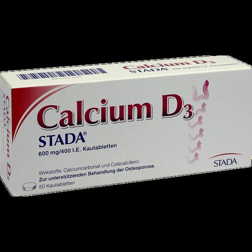Verpackungsbild(Packshot) von CALCIUM D3 STADA 600 mg/400 I.E. Kautabletten