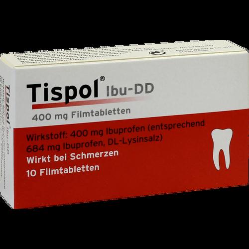 Verpackungsbild(Packshot) von TISPOL Ibu DD Filmtabletten