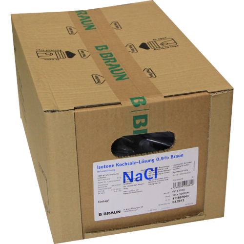 Verpackungsbild(Packshot) von NATRIUMCHLORID 0,9% Braun Ecobag Infusionslsg.