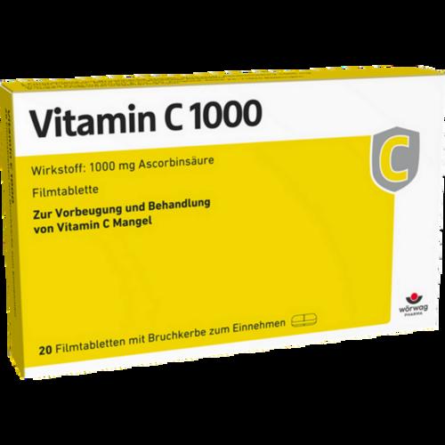Verpackungsbild(Packshot) von VITAMIN C 1000 Filmtabletten