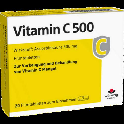 Verpackungsbild(Packshot) von VITAMIN C 500 Filmtabletten