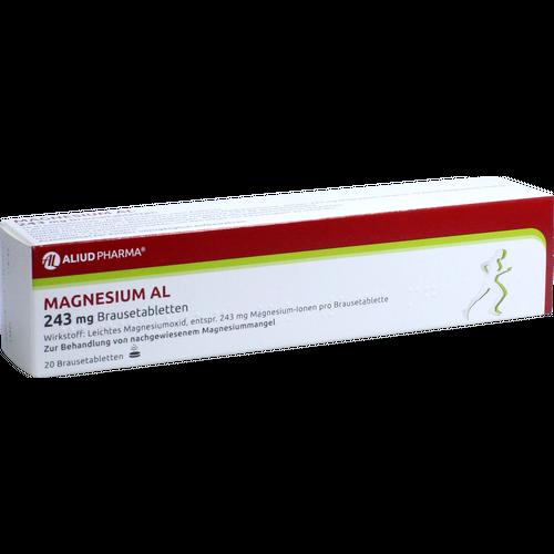 Verpackungsbild(Packshot) von MAGNESIUM AL 243 mg Brausetabletten