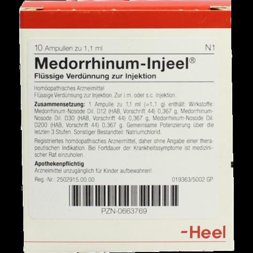 Verpackungsbild(Packshot) von MEDORRHINUM Injeel Ampullen