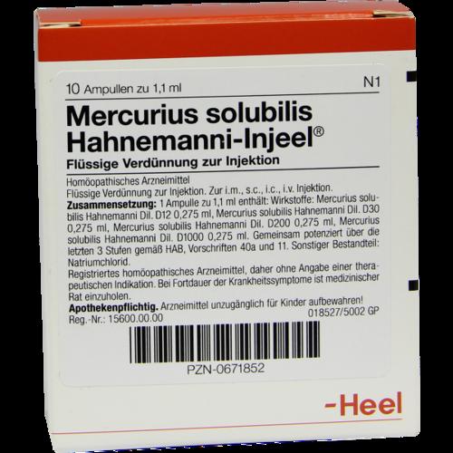 Verpackungsbild(Packshot) von MERCURIUS SOLUBILIS INJEEL Hahnemanni Ampullen