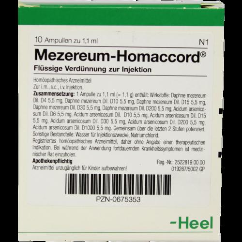 Verpackungsbild(Packshot) von MEZEREUM HOMACCORD Ampullen