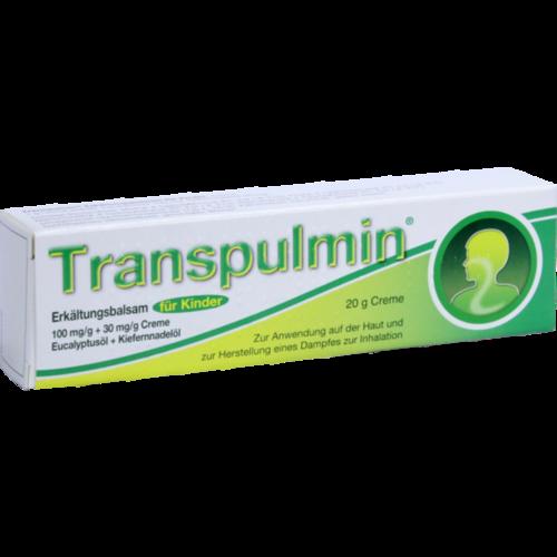 Verpackungsbild(Packshot) von TRANSPULMIN Erkältungsbalsam für Kinder