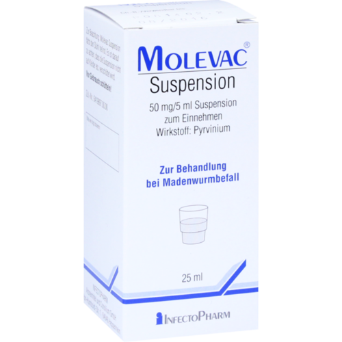 Verpackungsbild(Packshot) von MOLEVAC Suspension zum Einnehmen
