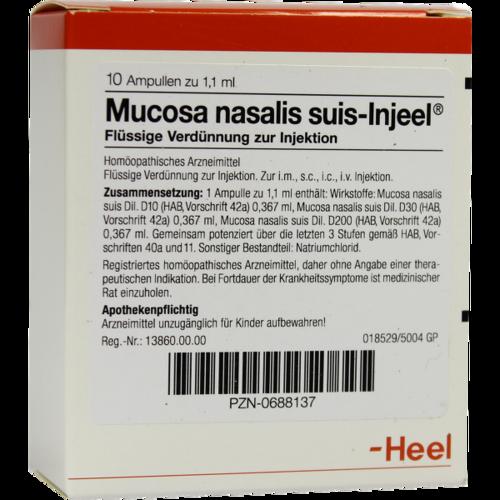 Verpackungsbild(Packshot) von MUCOSA nasalis suis Injeel Ampullen