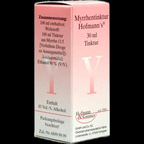 Verpackungsbild(Packshot) von MYRRHENTINKTUR Hofmann's
