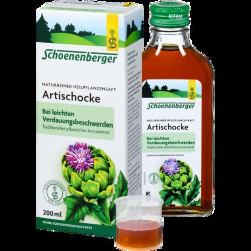 Verpackungsbild(Packshot) von ARTISCHOCKENSAFT Schoenenberger
