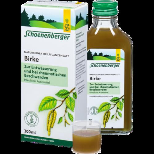 Verpackungsbild(Packshot) von BIRKENSAFT Schoenenberger Heilpflanzensäfte