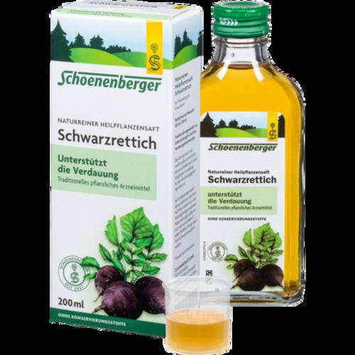Verpackungsbild(Packshot) von SCHWARZRETTICH Schoenenberger Heilpflanzensäfte