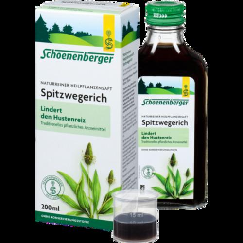 Verpackungsbild(Packshot) von SPITZWEGERICHSAFT Schoenenberger