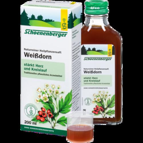 Verpackungsbild(Packshot) von WEISSDORN SAFT Schoenenberger