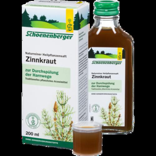 Verpackungsbild(Packshot) von ZINNKRAUT SAFT Schoenenberger