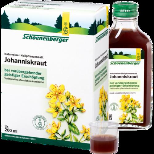 Verpackungsbild(Packshot) von JOHANNISKRAUT SAFT Schoenenberger Heilpfl.Säfte