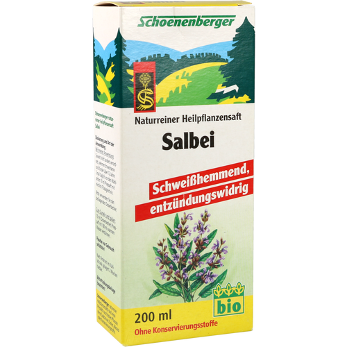 Verpackungsbild(Packshot) von SALBEI SAFT Schoenenberger Heilpflanzensäfte