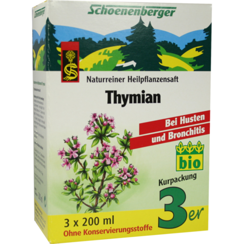 Verpackungsbild(Packshot) von THYMIAN SAFT Schoenenberger Heilpflanzensäfte